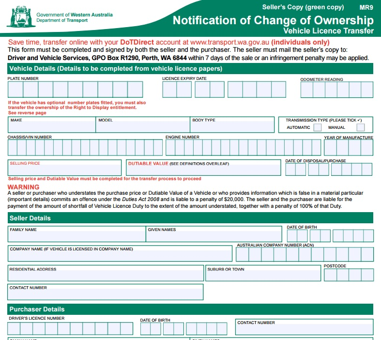 how to get vehicle registration wa
